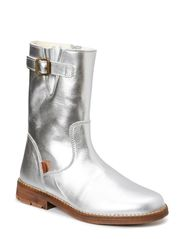 Short Tex Boot w/buckle - Silver