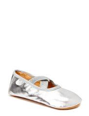 Prewalker Ballerina w. elastic - Silver
