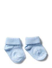 ANKLESOCK BABY W/TURN DOWN - LIGHT BLUE