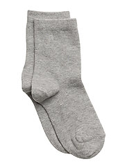 ANKLE COTTON PLAIN - GREY MARL.