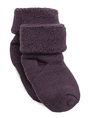 ANKLE TERRY WOOL BABY - PLUM