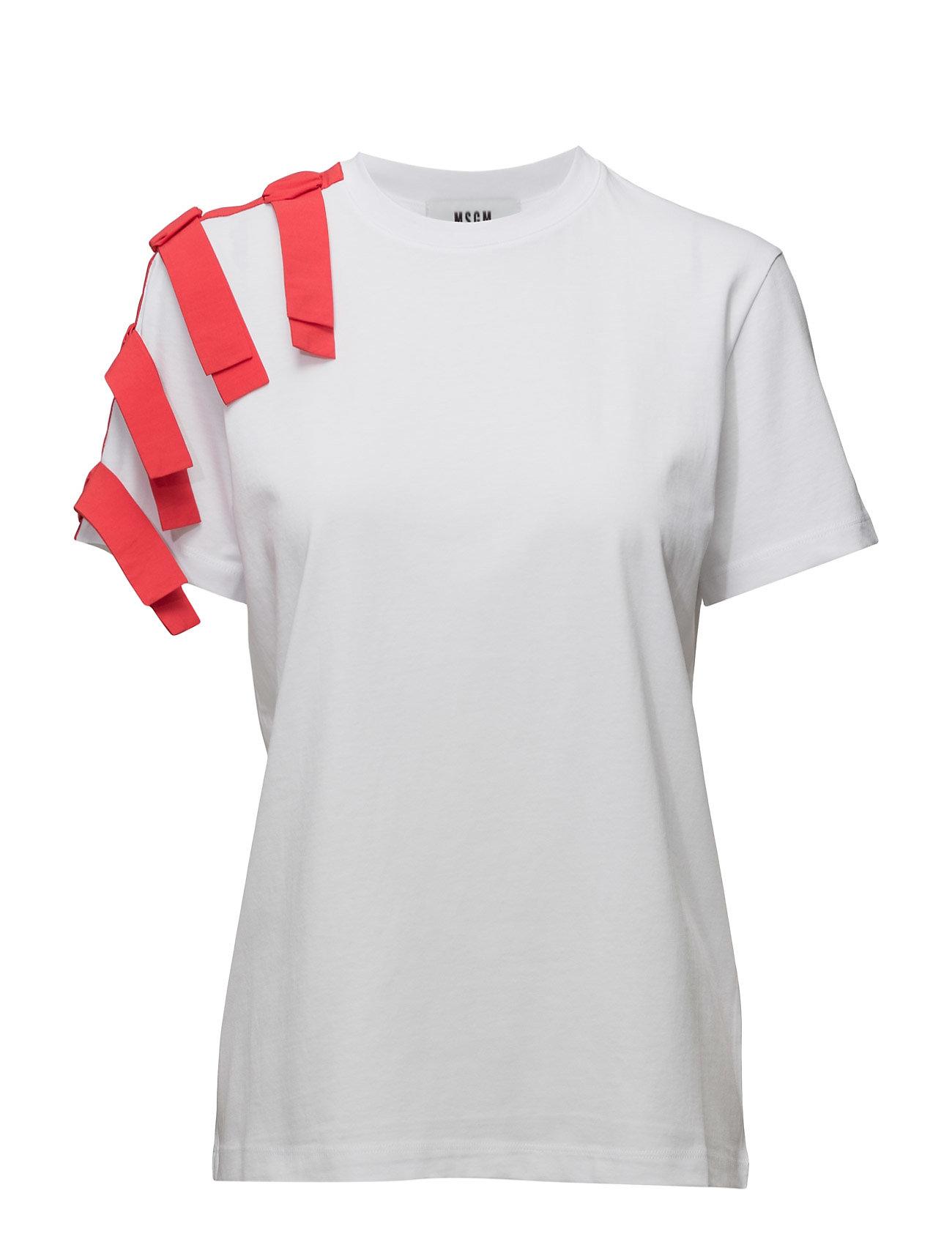 T-Shirt MSGM Kortærmede til Damer i hvid