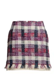 SKIRT - White/Violet/Pink/Black check
