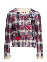 JACKET - White/Violet/Pink/Black check