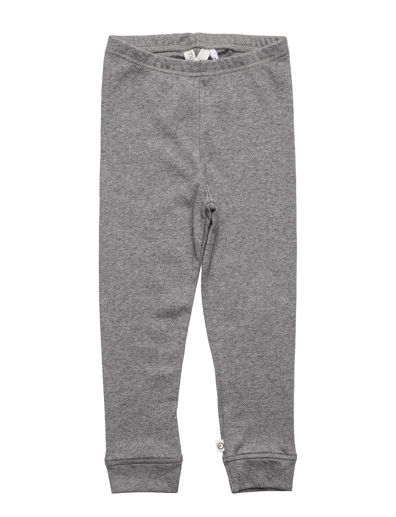 Bedtime Leggings Baby M¸sli by Green Cotton  til Børn i Pale Greymarl