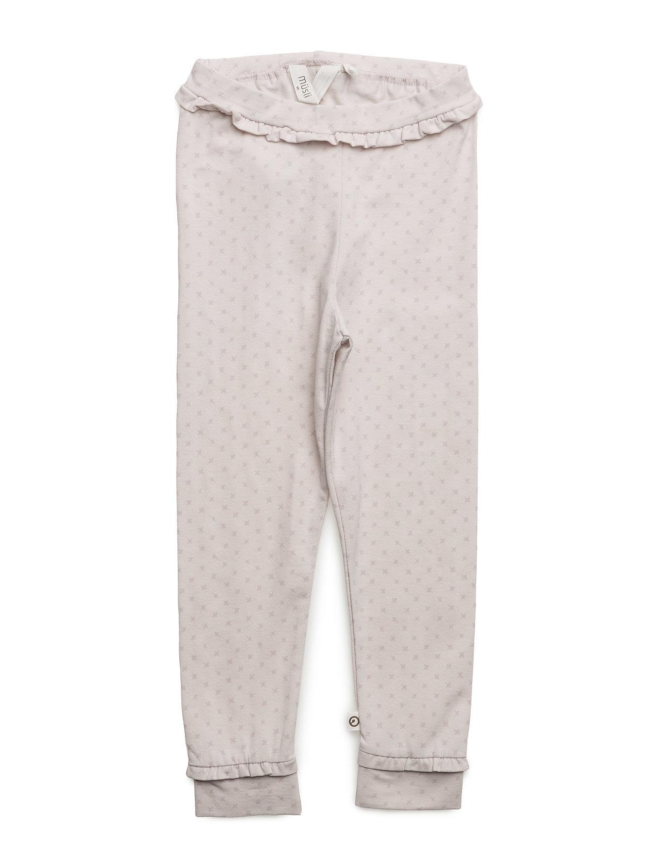 Cross Frill Pants Müsli by Green Cotton Leggings til Piger i
