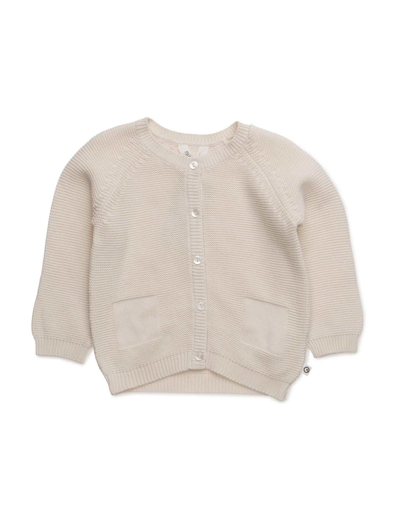 Knit Cardigan Baby MŸsli by Green Cotton  til Børn i Ecru