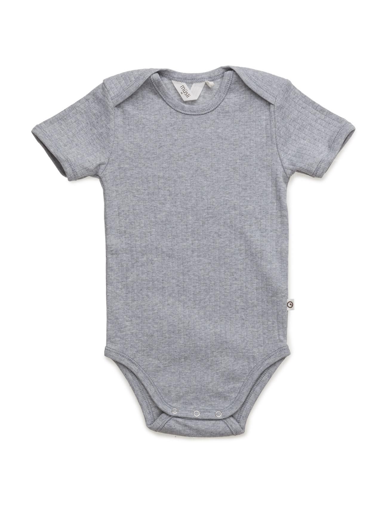 Cozy S/Sl Body MŸsli by Green Cotton Langærmede bodies til Børn i Pale Greymarl