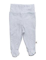 Mini me pants with feet - BLUE MELANGE
