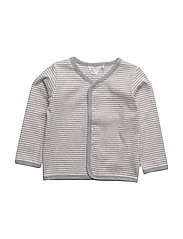 Stripe cardigan baby - PALE GREYMARL