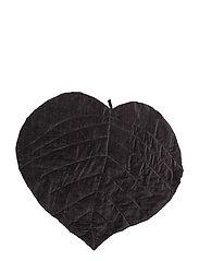 Velvet leaf blanket - CHROME