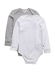 2-PACK Cozy me l/sl body - MIX GREY MARL WHITE
