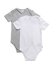 2-PACK Cozy me s/sl body - MIX GREY MARL WHITE