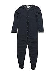 Woolly bodysuit W feet - NAVY