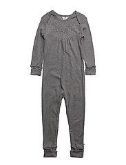 Bedtime bodysuit girl - PALE GREYMARL