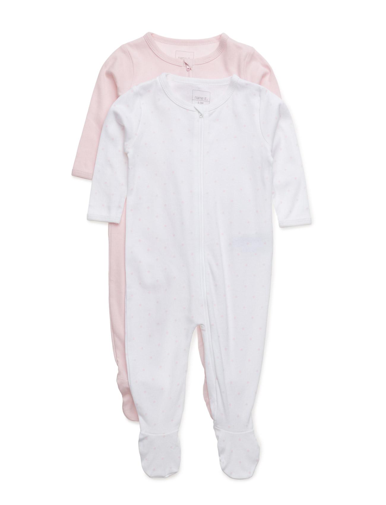 Nitnightsuit 2p Zip W/F Baller Nb G Noos name it Pyjamas til Børn i