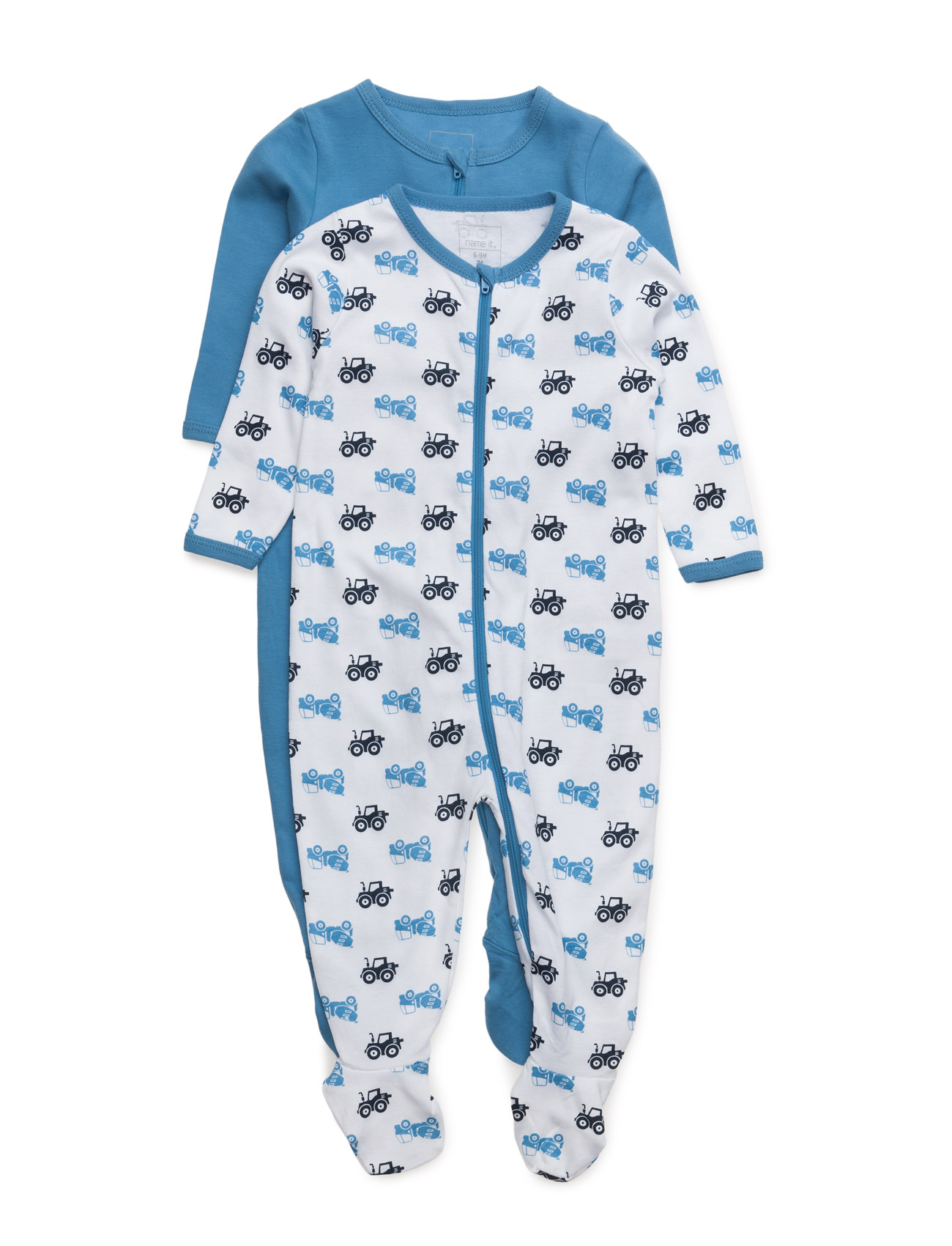 Nitnightsuit 2p Zip W/F Regatt Nb B Noos name it Pyjamas til Børn i
