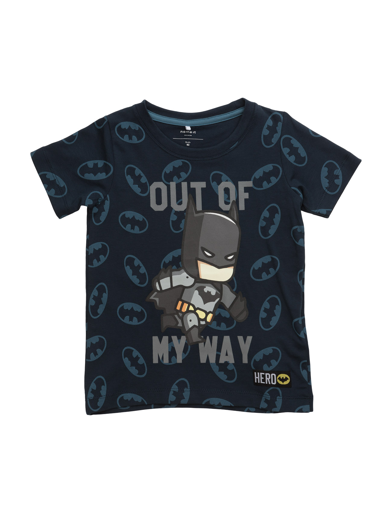 Nitbatman Bo Ss Aop Top Wab Mz name it Kortærmede t-shirts til Børn i Dress Blues