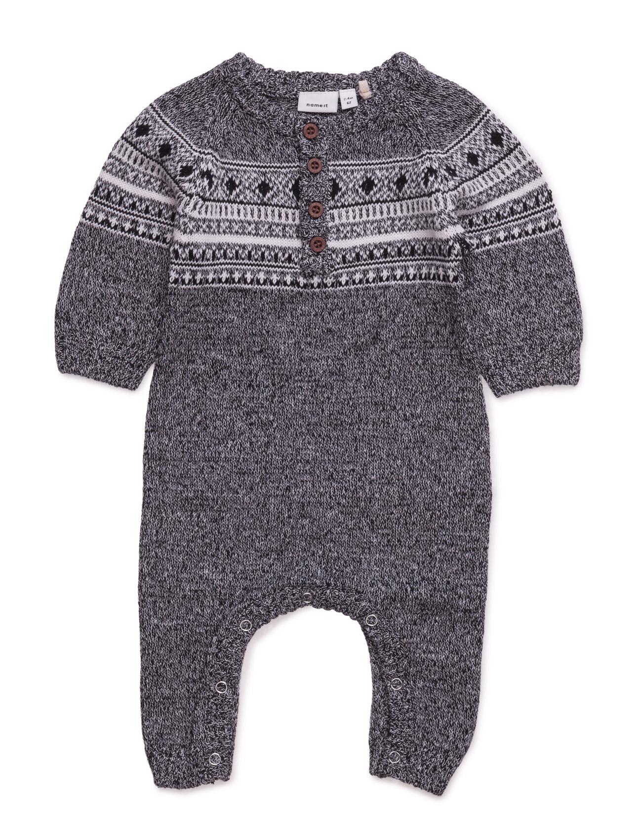 Nitmalthe Knit Ls Suit Mznb name it Langærmede bodies til Børn i Sort