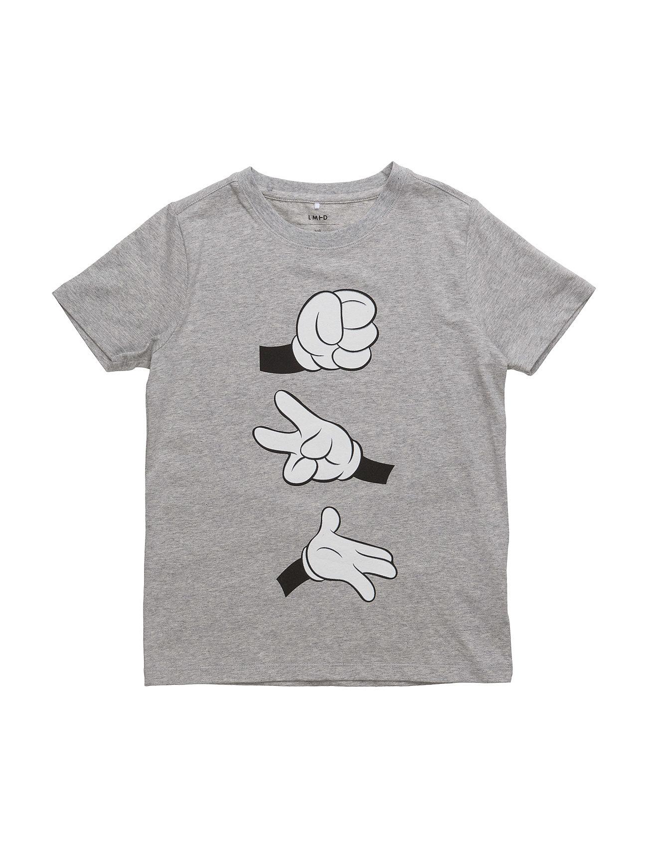 Nitmickey Manly Tee Lmtd Wdi name it Kortærmede t-shirts til Børn i Grey Melange