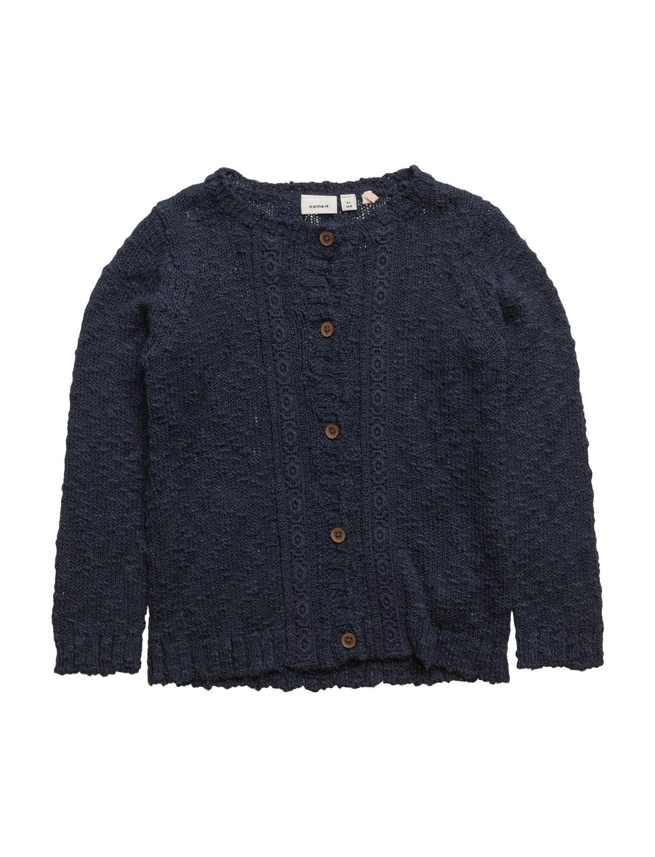 Nitfatine Ls Knit Card Mz name it Cardigans til Piger i Dress Blues