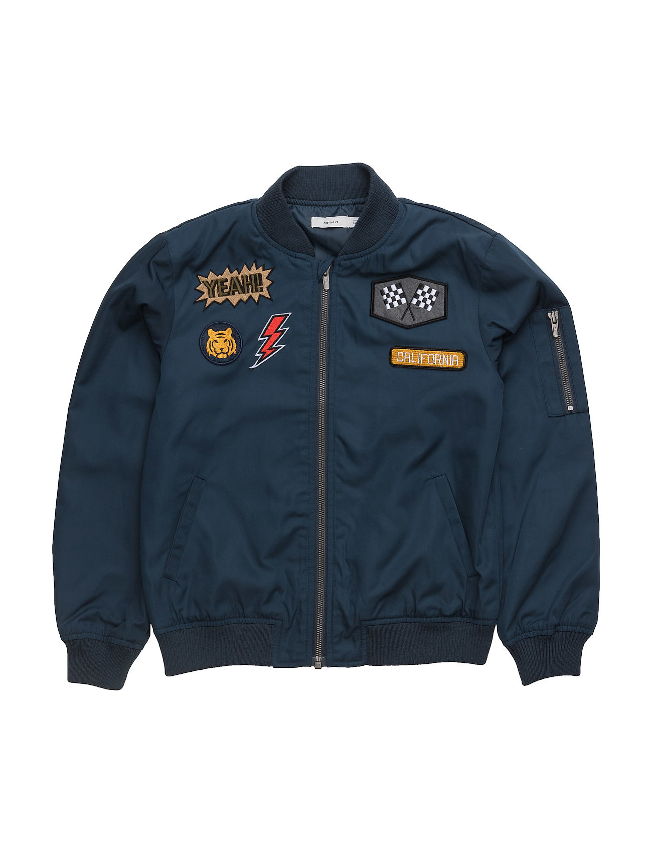 Nitmarten Bomber Badge Jacket Nmt name it Jakker & Frakker til Børn i Dress Blues