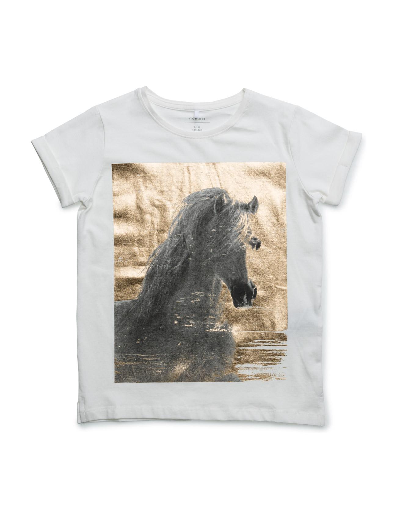 Nithafoil Ss Top Nmt name it T-shirts til Piger i Sne hvid