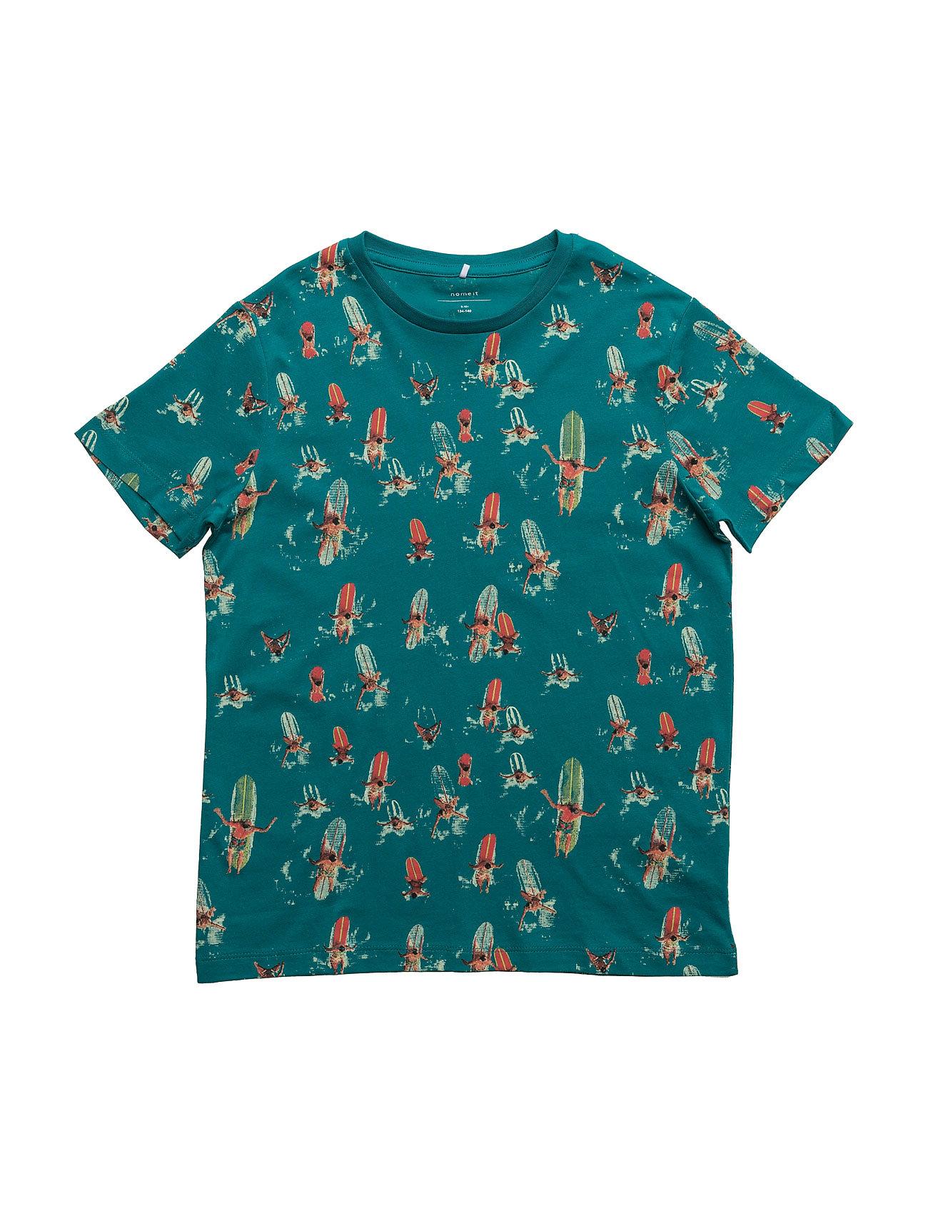 Nitjsurf Ss Top Box Nmt Camp name it Kortærmede t-shirts til Børn i
