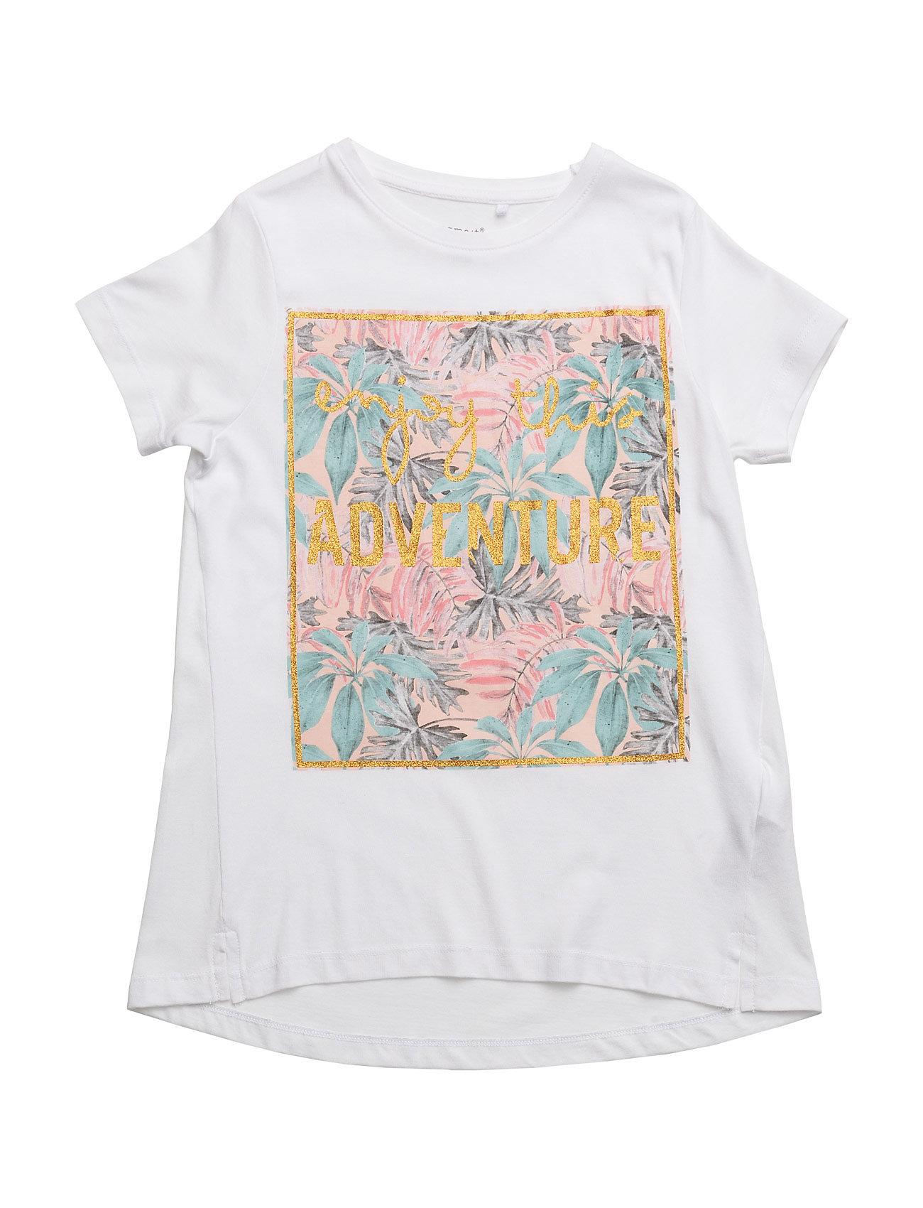 Nitjanine Ss Top Nmt name it T-shirts til Piger i Bright White