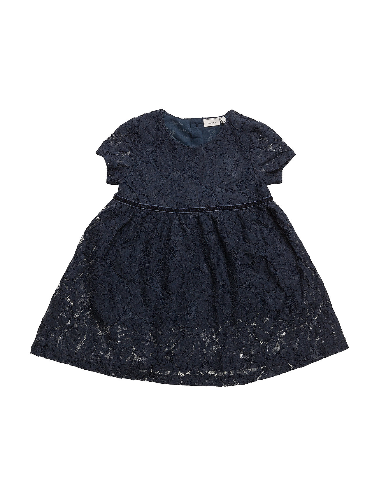 name it – Nitetlace ss dress wl f mini på boozt.com dk