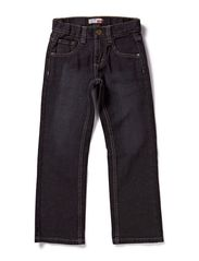 name it STICKS SCHWARZ KIDS REG DNM PANTS SUP