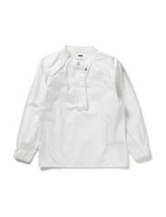 name it TERINA KIDS LS SHIRT BRIGHTWHIT EMB 113