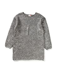 OMARIA KIDS LS OVERSIZE KNIT TUNIC 613 - Dark Grey Melange