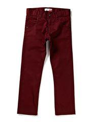 PRED KIDS SLIM TWILL PANT 613 - Burgundy