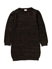 PLATINI KIDS LS KNIT DRESS 613 - Black
