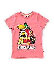 ANGRY BIRDS KIDS SS TOP GIRL X-SP13 - BUBBLEGUM (Pantone)