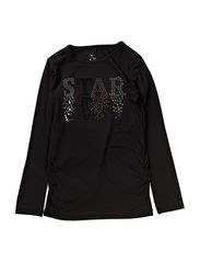 PENGU KIDS LS LONG SLIM TOP 613 - Black