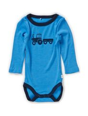 WILLI WOOL NB LS BODY BOY 314 NOOS - Azure Blue