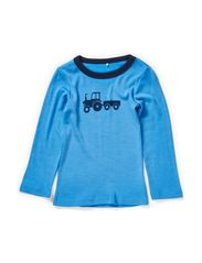WILLI WOOL MINI LS TOP AUG BOY 314 - Azure Blue