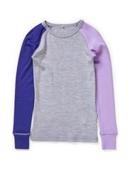 WILLI WOOL KIDS LS SL TOP GIRL 314 NOOS - Grey Melange