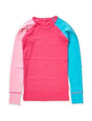 WILLI WOOL KIDS LS SL TOP GIRL 314 NOOS - Pink Glo