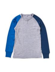 WILLI WOOL KIDS LS SL TOP BOY 314 NOOS - Grey Melange