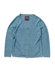 MARTINUS KIDS LS KNIT CARDI LIMIT2X-SP14 - Cloud Dancer