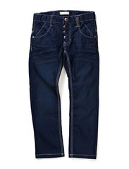 BEN KIDS DNM BAG/REG PANT NOOS S - Dark Blue Denim
