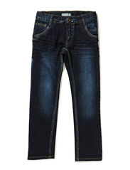 LEOPOL BLUE KIDS DNM SLIM/SLIM PANT NOOS - Dark Blue Denim