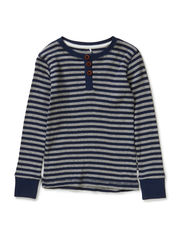 VILANO MINI LS SLIM TOP STR SEP 514 - Dress Blues