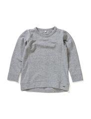 LOLIA MINI LS SWEAT TOP 514 - Grey Melange
