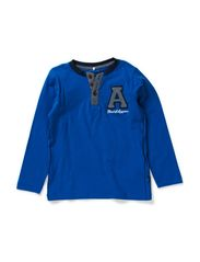 LAUGESON MINI LS TOP W TEXT 514 - Princess Blue