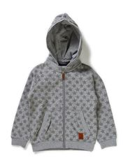 LAUGUST MINI SWEAT CARD W. DET. HOOD 514 - Grey Melange
