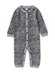 LILLIAN NB CU LS KNIT SUIT 514 - Grey Melange